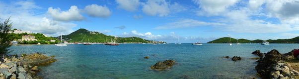 St Thomas Panorama, E.U. Ilhas Virgens, EUA Foto de Stock Royalty Free