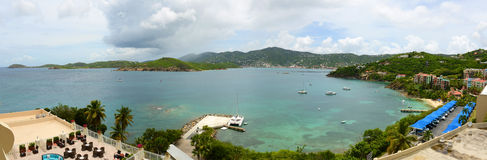 St Thomas Panorama, E.U. Ilhas Virgens, EUA Fotos de Stock Royalty Free