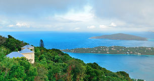 St Thomas panorama mountain view Stock Photos