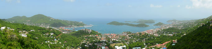 St. Thomas Panorama, US Virgin Islands, USA Royalty Free Stock Photos