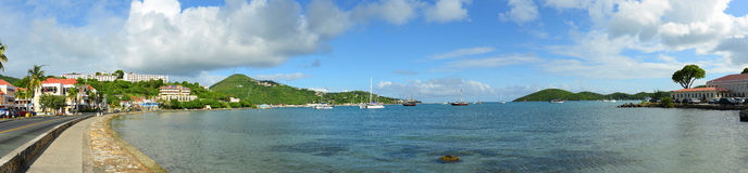 St. Thomas Panorama, US Virgin Islands, USA Royalty Free Stock Images