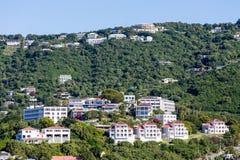 St Thomas Resorts med solpaneler Royaltyfria Foton
