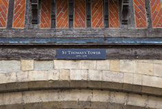 St Thomas's Tower at the Tower of London Stock Photo