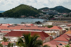 St. Thomas Skyline. Skyline of buildings at St. Thomas, USVI Stock Photos