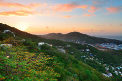 St Thomas sunrise Royalty Free Stock Images