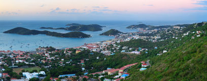 St Thomas sunrise Royalty Free Stock Photo