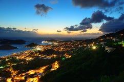 St Thomas sunset Stock Image