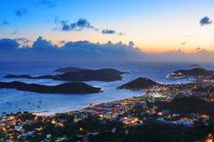 St Thomas sunset Stock Photography