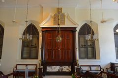 St Thomas Synagogue, Charlotte Amalie, Isole Vergini americane immagine stock libera da diritti
