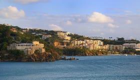 St. thomas, U.S. Virgin Islands. View of the harbor in St. Thomas, U.S. Virgin Islands Royalty Free Stock Photo