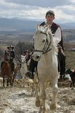 St. Todor 's day. Race with horses and horses pull carts with heavy logs on Todorov day. St. Todor 's day. Race with horses and horses pull carts with heavy Royalty Free Stock Image