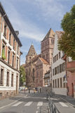 St. Tomas Lutherun churh in Strasbourg, France Stock Photography