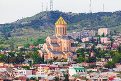 St. Trinity cathedral in Tbilisi, Georgia Royalty Free Stock Photography