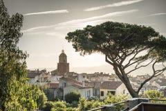 St Tropez башня с часами стоковое изображение rf