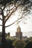St Tropez башня с часами стоковое фото rf