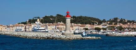 St Tropez - маяк Стоковая Фотография RF