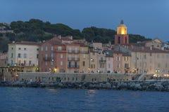 St Tropez на ноче стоковое фото rf