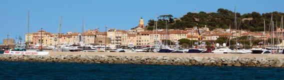 St Tropez - панорамный взгляд стоковая фотография rf