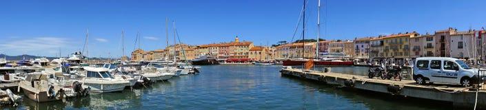 St Tropez - панорамный взгляд стоковые изображения rf