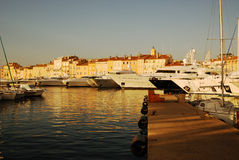 St Tropez. Evening at the Harbour at St Tropez Royalty Free Stock Photography