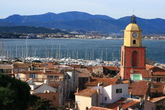 St Tropez Bell Tower Royalty Free Stock Photos