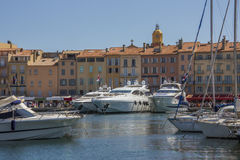 St Tropez - Cote d'Azur - French Riviera. The resort of St Tropez on the Cote d'Azur in the South of France Royalty Free Stock Photo