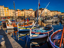 St.Tropez fishing harbor Stock Image