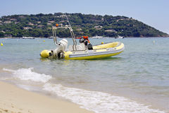 St tropez rescue boat Royalty Free Stock Photo