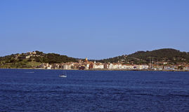 St tropez from sea Royalty Free Stock Photo