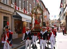 St Tropez street Celebration Bravade stock images