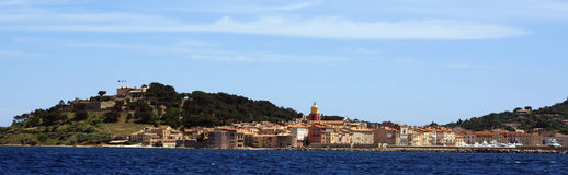 St tropez view. Panoramic view of saint tropez France royalty free stock photography