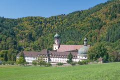 St.Trudpert Abbey,Schwarzwald,black forest,germany. The famous Abbey of Muenstertal called St.Trudpert,Black Forest,Schwarzwald,germany royalty free stock photography