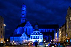 St. Ulrich Basilica in the city of Augsburg Stock Images
