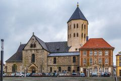 St. Ulrich Church, Paderborn, Germany. St. Ulrich Church is located on the cathedral square opposite the cathedral of Paderborn, Germany royalty free stock images