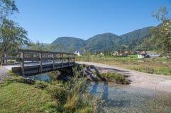 St. Ulrich f.m. Pillersee, Tirol, Österrike Royaltyfri Fotografi