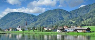 St. Ulrich am Pillersee,Tirol,Austria. Panoramic view to Village of St. Ulrich am Pillersee,Tirol,Austria Stock Photos