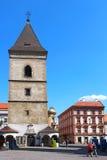 St. Urban Tower, Kosice, Slovakia. KOSICE, SLOVAKIA - AUGUST 29, 2015: St. Urban Tower (Urbanova veza) on the main square of Kosice (Hlavne namestie Royalty Free Stock Photography