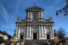 St-Ursen Kathedraal, Solothurn, Zwitserland stock foto's