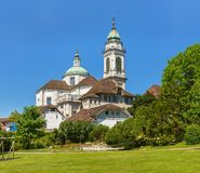 St. Ursus cathedral in the city of Solothurn, Switzerland. The St. Ursus cathedral in the city of Solothurn, Switzerland. The St. Ursus cathedral is listed as a royalty free stock photo