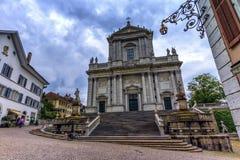 St Ursus Kathedraal, Solothurn, Zwitserland royalty-vrije stock foto