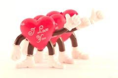 St-valentijnskaart hart Stock Afbeelding
