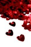 St-valentijnskaart harten Stock Foto's