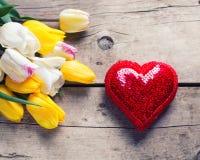 St Valentin天背景 库存图片