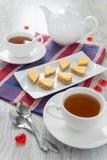 St-valentin frukost för dag Arkivbild