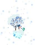 St. Valentindag - en flicka som väntar i snowen Arkivbild