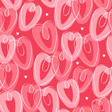St. Valentine's seamless pattern with hearts Royalty Free Stock Photography