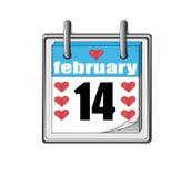 St Valentineâs dagpictogram van de kalender Stock Foto's