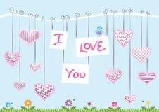 St Valentineâs de Kaart van de Dag Stock Afbeelding