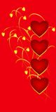 St. valentine card Stock Photography