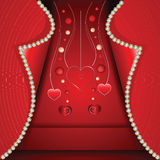 St. Valentine'. Card hearts by a St. Valentine's Day Royalty Free Stock Image
